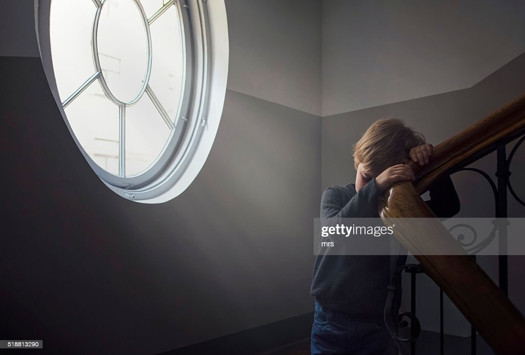 Sad boy : Stock Photo