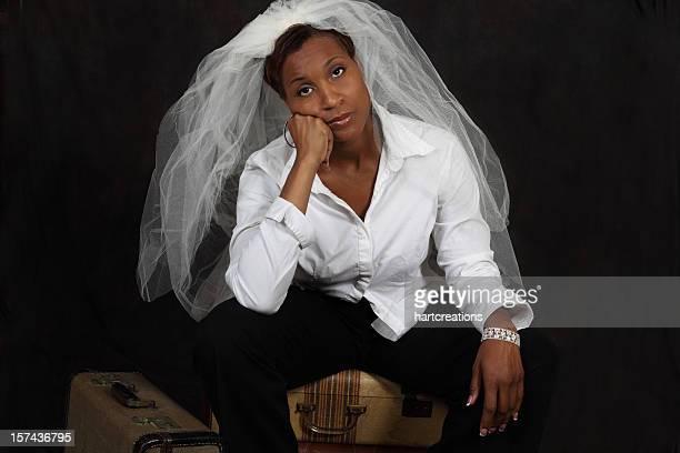 sad bride xxxl - veil stock pictures, royalty-free photos & images
