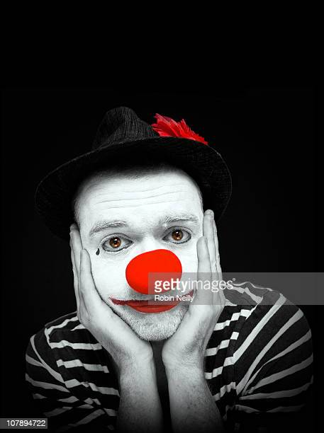 sad clown - sad clown stock photos and pictures