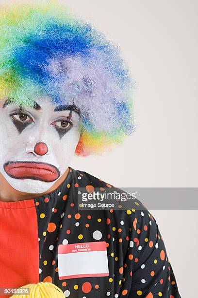 a sad clown - sad clown stock photos and pictures
