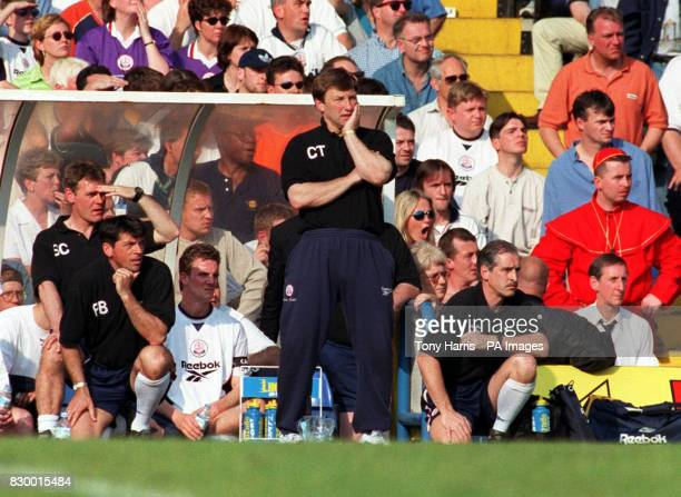 Sad Colin Todd watches his team as they face certain relegation from the Premiership as they are beaten 2-0 by Chelsea at Stamford Bridge. * 22/9/99:...