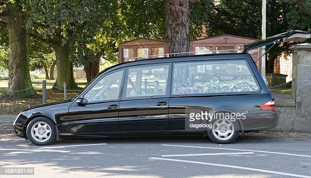 sad day - hearse stock photos and pictures