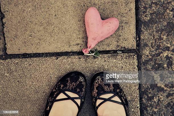 Sad deflated heart