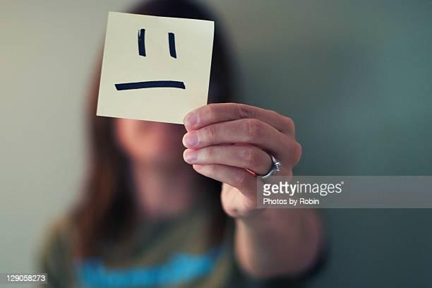 Sad face note