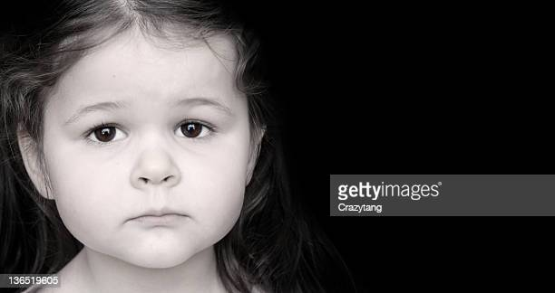 sad girl - children only stock pictures, royalty-free photos & images
