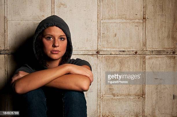 sad girl - runaway stock photos and pictures