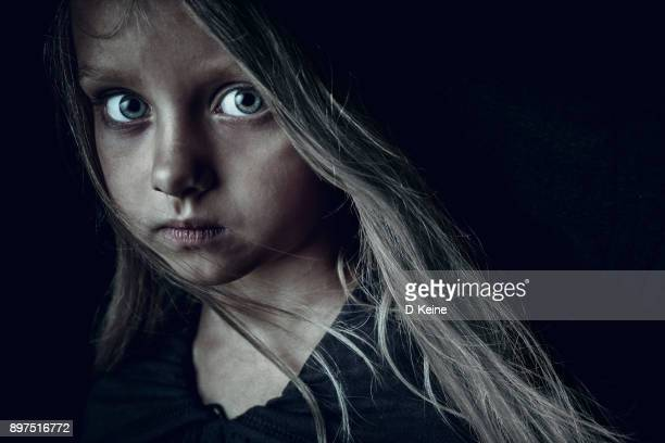 sad girl - homeless stock photos and pictures