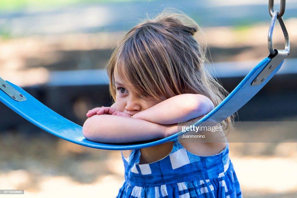 Sad little girl : Stock Photo
