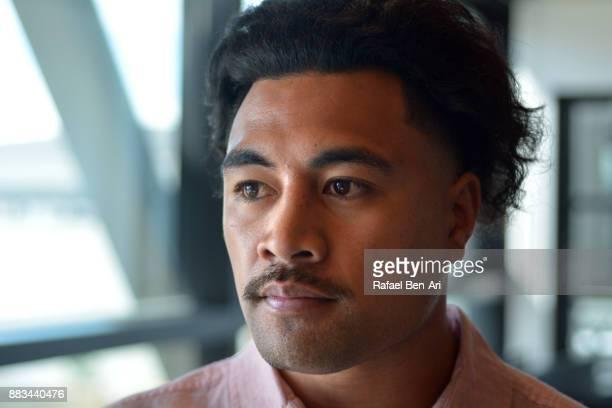 Sad Maori man