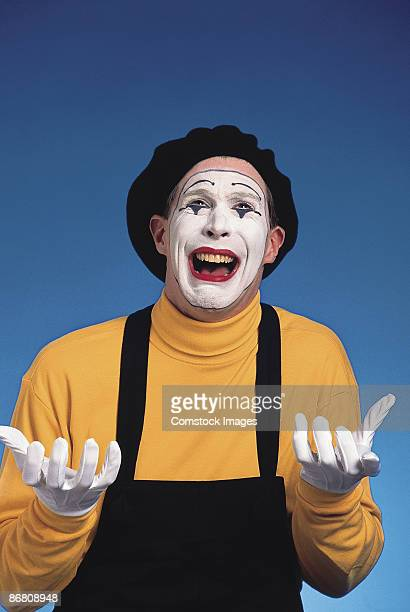 sad mime - mime stock photos and pictures