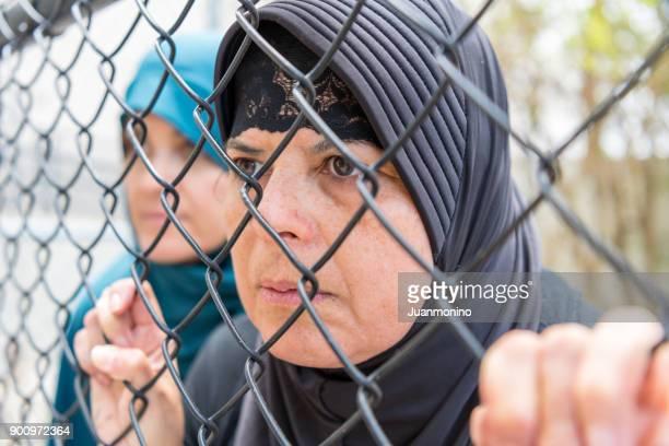 Traurig Flüchtling