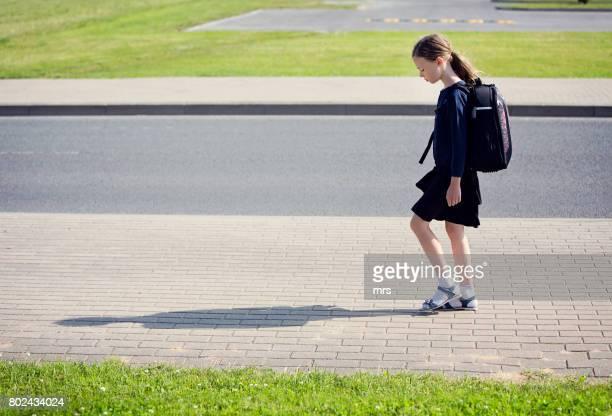 Sad schoolgirl