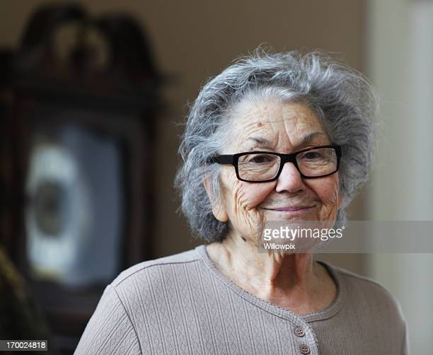 sad smile senior woman - grandmother stock pictures, royalty-free photos & images
