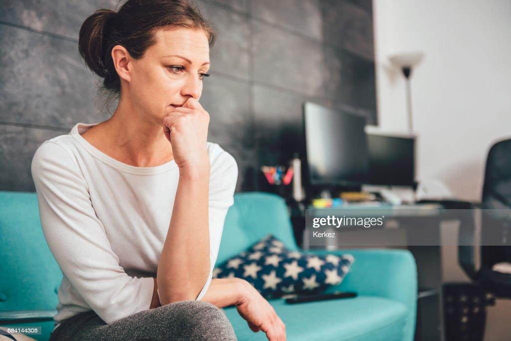 Sad woman : Stock Photo