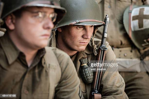 Sad WWII Infantry Soldier