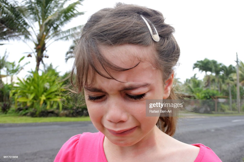 Sad Young Girl Cries When She Got Lost During A Family -8063