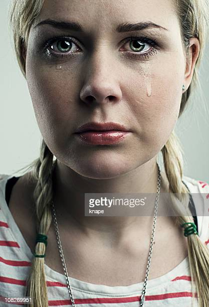 Sad Young Woman Crying