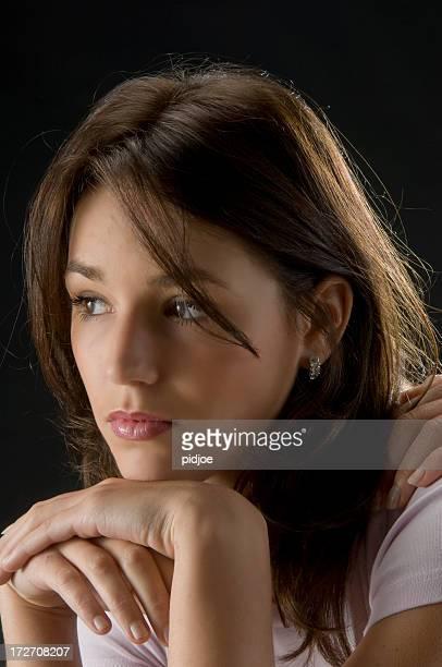 Triste jeune femme
