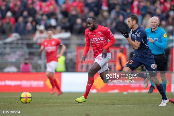 Sada Thioub of Nimes defended by Ellyes Skhiri of Montpellier during the Nimes V Montpellier French Ligue 1 regular season match at Stade des...