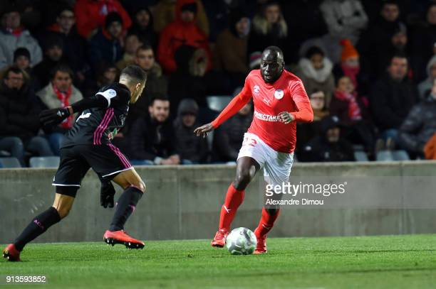 Sada Thioub of Nimes during Ligue 2 match between Nimes and AC Ajaccio at Stade des Costieres on February 2 2018 in Nimes France