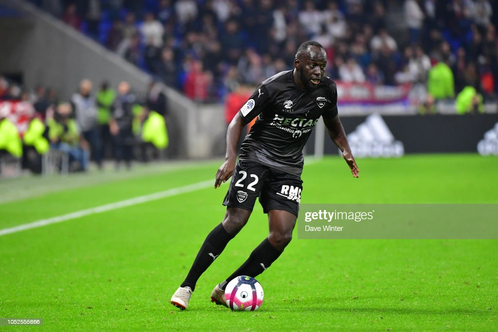 Buteurs / passeurs et Statistiques des  crocos : Saison 2018-2019 du NO  - Page 2 Sada-thioub-of-nimes-during-the-ligue-1-match-between-lyon-and-nimes-picture-id1052555866