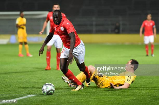 Sada Thioub of Nimes during the Ligue 2 match between Nimes Olympique and Stade Brestois at on October 20 2017 in Nimes France