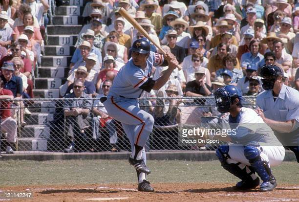 Sadaharu OH of the Yomiuri Giants bats against the Los Angeles Dodgers during exhibition game circa 1970 at Dodger Town in Vero Beach Florida OH...
