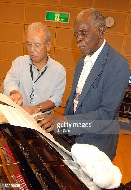 Sadao Watanabe and Hank Jones during Tokyo Jazz 2006 Backstage Portraits at Tokyo International Forum in Tokyo Japan