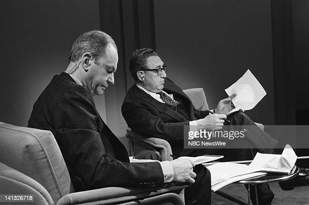 NBC NEWS Sadat's Visit to Israel Henry Kissinger Edwin Newman Discussion Aired 1977 Pictured NBC News' Edwin Newman former US Secretary of State...