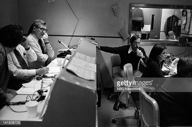 NBC NEWS Sadat's Visit to Israel Henry Kissinger Edwin Newman Discussion Aired 1977 Pictured NBC News Crew in the control booths Photo by NBC Newswire