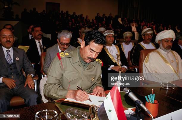 Saddam Hussein Attending Arab Summit