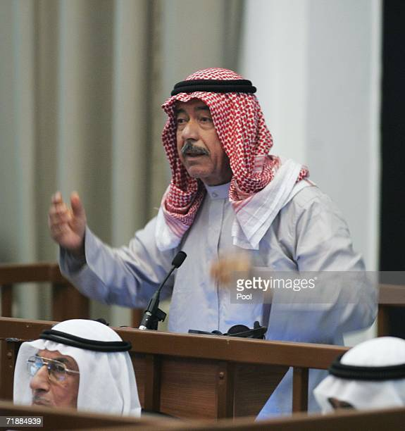 Saddam Hussein codefendant Ali Hassan alMajid also known as Chemical Ali testifies during the fourth day of their trial on September 14 2006 in...