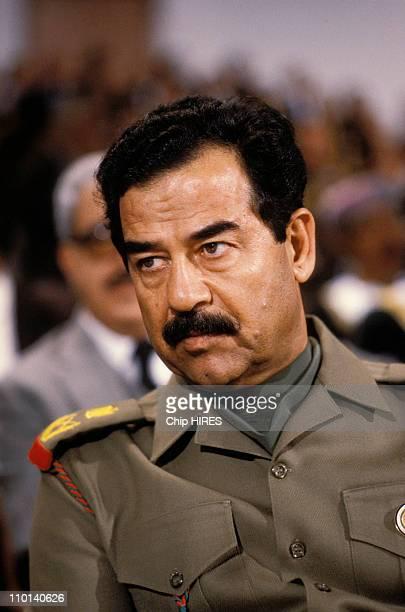 Saddam Hussein in Amman Jordan on November 11 1987