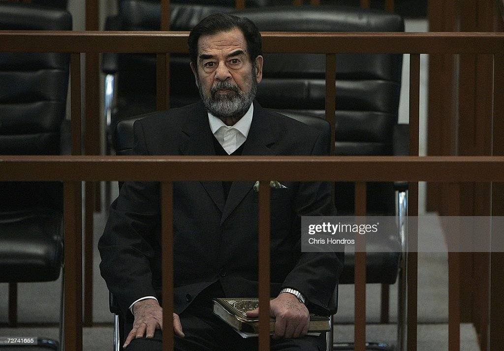 Saddam Trial Continues in Baghdad : News Photo