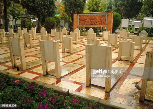 Saddam Hussein's chemical weapons victims in Tehran cemetery