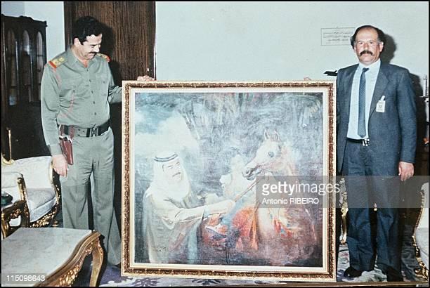 Saddam's artists in Baghdad Iraq in July 1994 Alduragi with Saddam