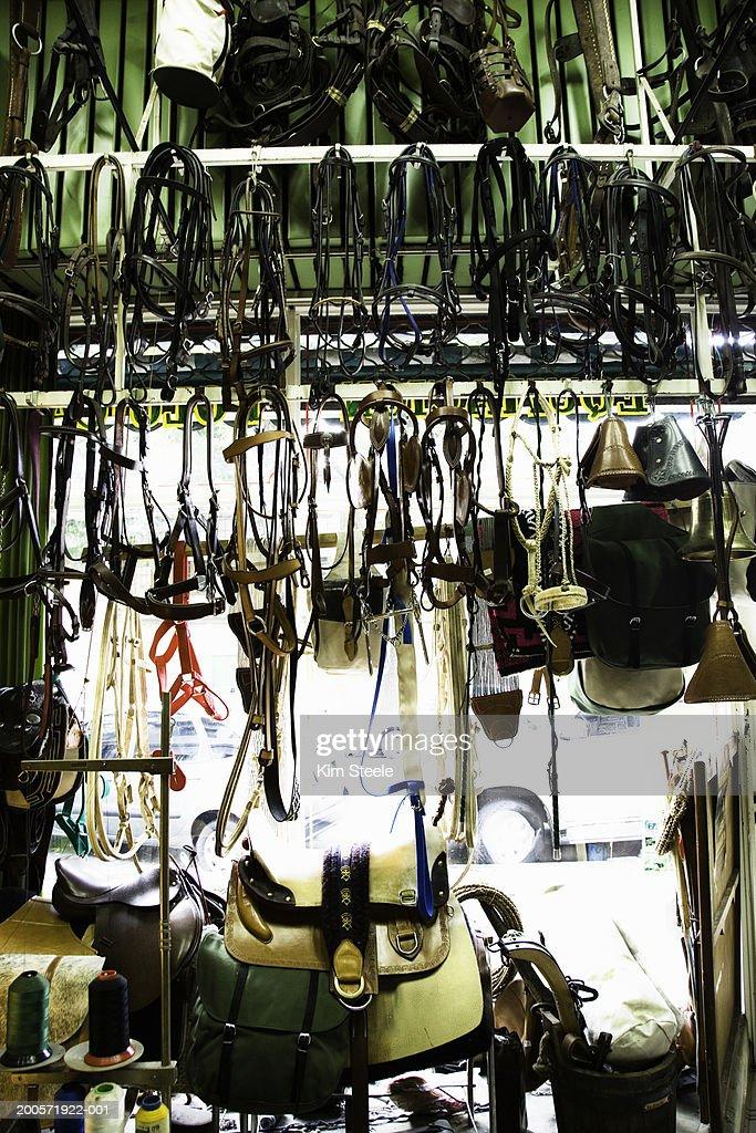 Saddle Shop Interior Palermo Viejo Buenos Aires Argentina Stock