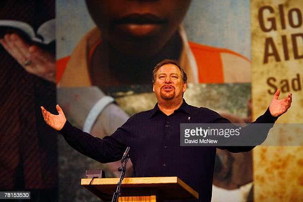 Saddleback Valley Community Church Pastor Rick Warren speaks at the third annual Global Summit on AIDS and the Church, a four-day event at Saddleback...