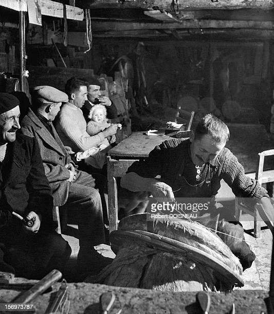 Saddler, 1947 in Saint-Veran, France.
