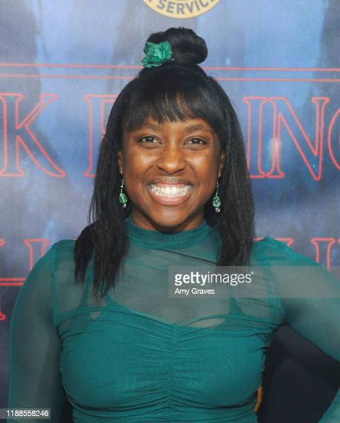 Sade Champagne attends Tarik Ellinger's 16th Birthday Party In The Upside Down at Starwest Studios on December 13 2019 in Burbank California