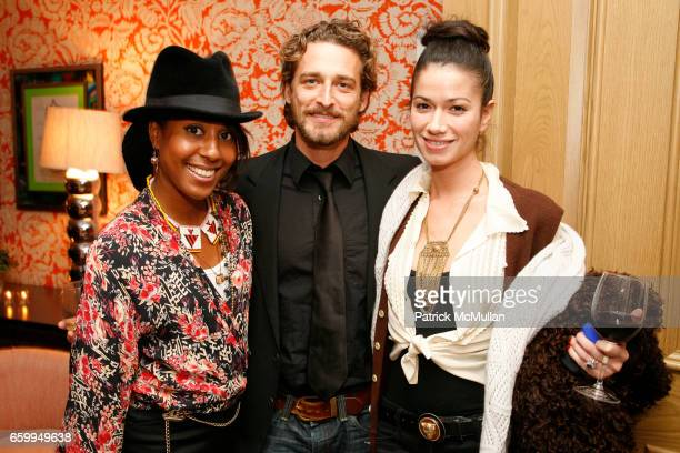 Sade Lythcott Alexi Lubomirski and Giada Lubomirski attend SONY PICTURES CLASSICS THE CINEMA SOCIETY host the afterparty for 'THE IMAGINARIUM OF DR...