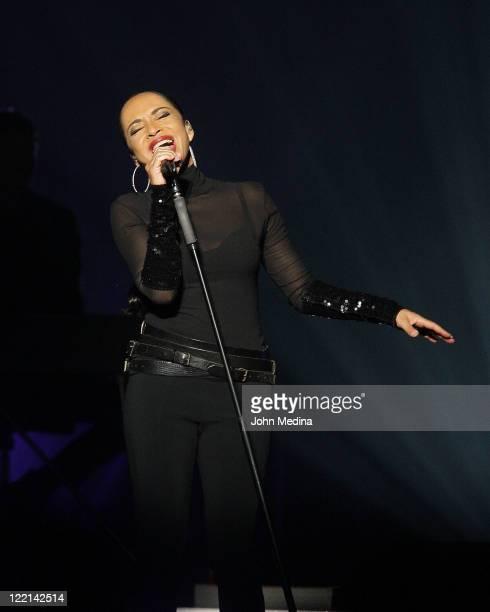 Sade performs at HP Pavilion on August 25 2011 in San Jose California