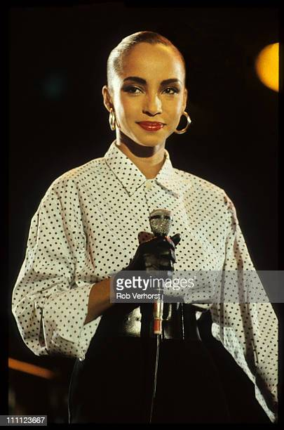 Sade performs on stage at Veronica Rocknight Ahoy Rotterdam Netherlands 21st September 1984