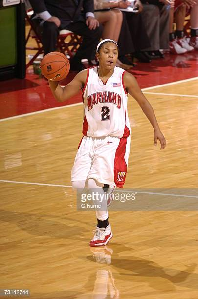 Sa'de WileyGatewood of the Maryland Terrapins brings the ball up the court against Marist Red Foxes December 30 2006 at Comcast Center in College...