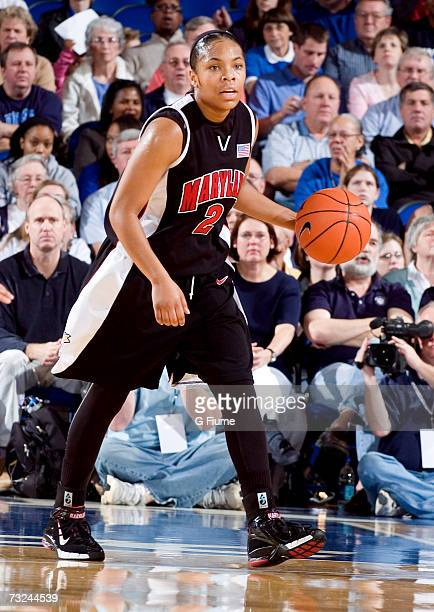 Sa'de WileyGatewood of the Maryland Terrapins brings the ball up the court against the Duke Blue Devils January 13 2007 at Cameron Indoor Stadium in...