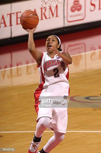 Sa'de WileyGatewood of the Maryland Terrapins drives to the hoop against Marist Red Foxes December 30 2006 at Comcast Center in College Park Maryland