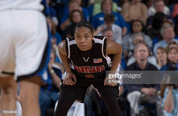 Sa'de WileyGatewood of the Maryland Terrapins during the game against the Duke Blue Devils January 13 2007 at Cameron Indoor Stadium in Durham North...