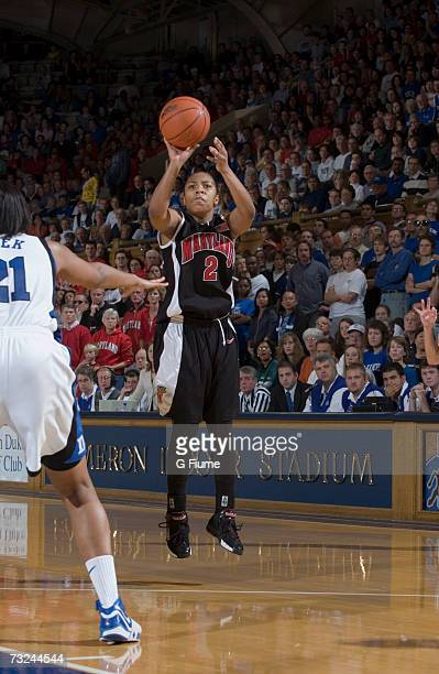 Sa'de WileyGatewood of the Maryland Terrapins takes a jump shot against the Duke Blue Devils January 13 2007 at Cameron Indoor Stadium in Durham...