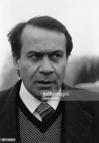 Sadegh Ghotbzadeh conseiller en communication de l'ayatollah Rouhollah Khomeini NeauphleleChâteau le 16 janvier 1979 France