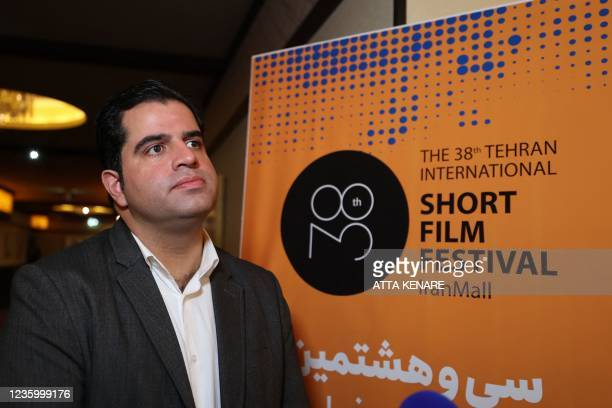 Sadegh Moussavi, President of the Tehran International Short Film Festival , speaks to AFP during the opening day of the 38th edition of the TISFF in...